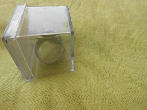 anel motoqueiro caveira prateado alto relevo aro 22