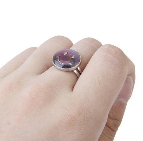 anel muda cor kit 5 modelos smilles oval coração redondo lua