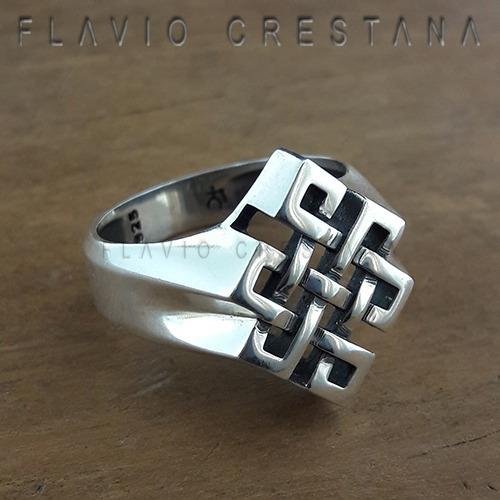 anel no sem fim, prata 925. fabricaçao própria - 11055601