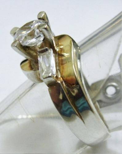 anel noivado aparador aliança solitario prata ouro 1338