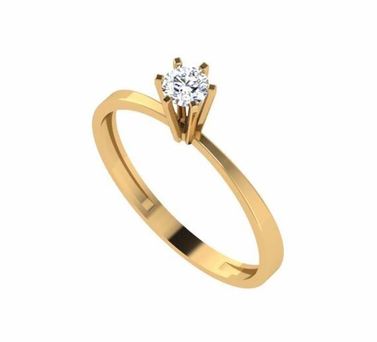 Anel Noivado Solitario Debutante 15 Anos Diamante Ouro 18k - R  449,99 em  Mercado Livre 37712f820a