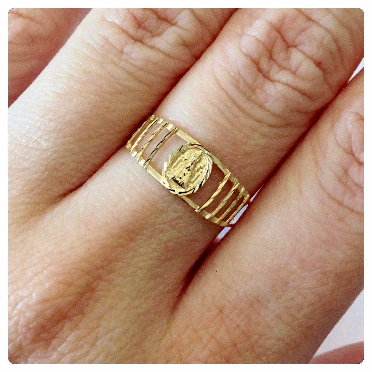 00cee999fc5a4 anel nossa senhora aparecida joia ouro 18k-750 joias kgshop. Carregando  zoom.