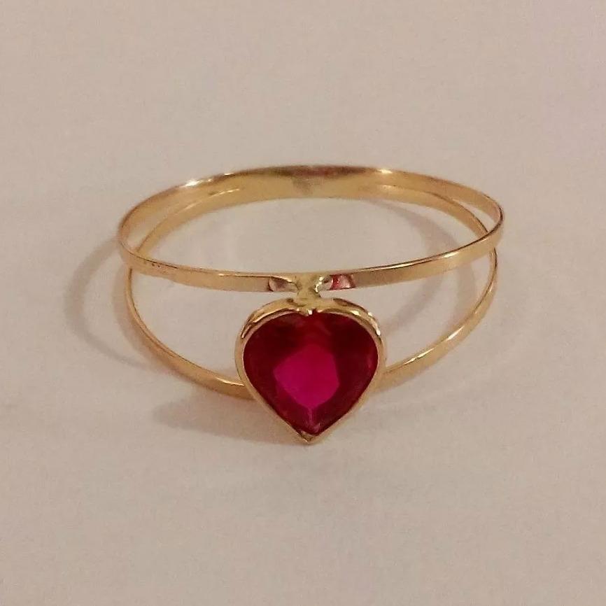 d874521436966 anel ouro 18k 750 feminino solitário pedra zircônia coração. Carregando  zoom.
