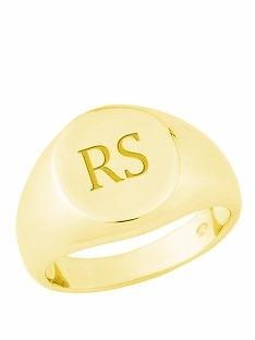 anel ouro 18k com letras iniciais mod. cj1286