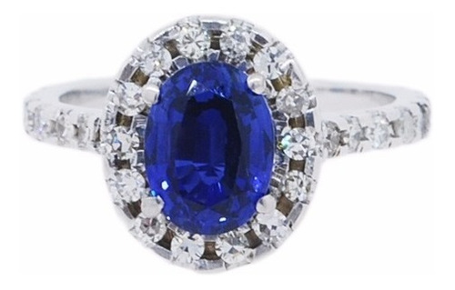 anel ouro 18k com safira e diamantes mod. cj1208