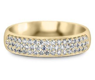 anel ouro 18k pavê diamantes mod. cj1309