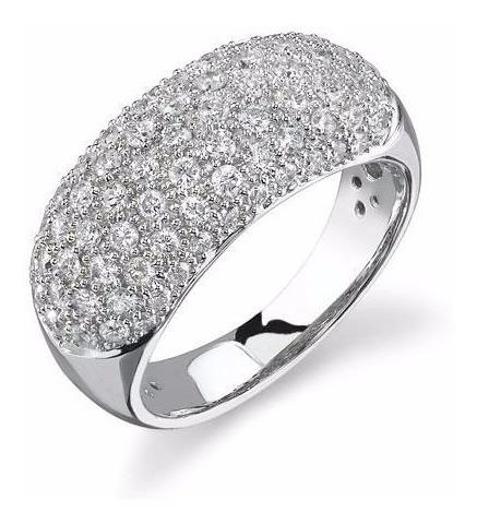 anel ouro 18k pavê diamantes mod. cj1311