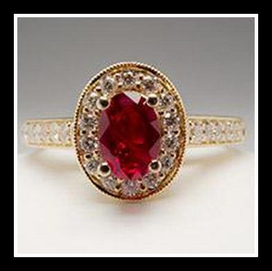 807414f5c77 Anel Ouro 18k!com Rubi E Diamantes - R  1.832