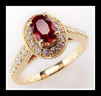 anel  ouro 18k!com rubi e diamantes
