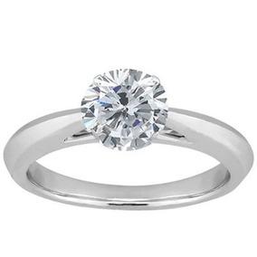 a2868a8260892 Anel Solitário De Ouro Com Diamantes Modelo Tiffany - Anéis com o ...