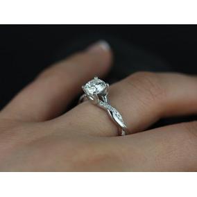 15457db4b8825 Anel De Noivado Ouro Branco E Diamante no Mercado Livre Brasil
