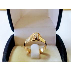 1d86054d48498 Anel Com Diamante 23 Pontos. Solitário Ouro 18 K.frete Livre - Joias ...