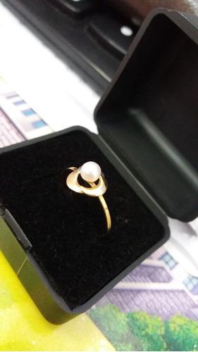 anel ouro feminino com pérola