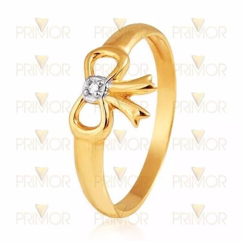 anel ouro laço