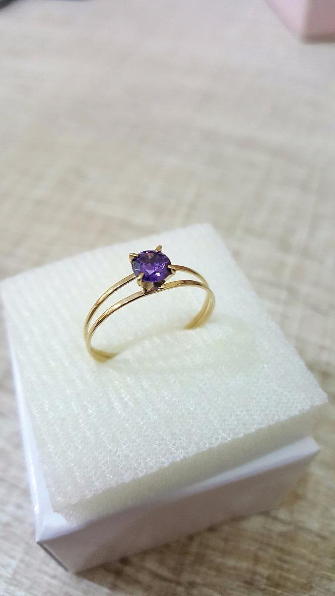 9eee68eef65c9 Carregando zoom... ouro solitário anel. Carregando zoom... anel ouro 18k  maciço solitário pedra natural ametista