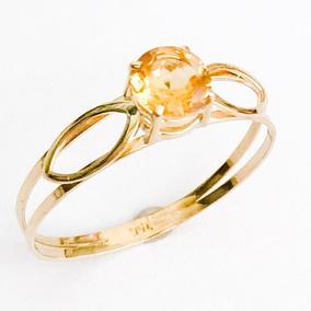 a0d16d407ee0f Anel Em Ouro Com Pedra Citrino - Joias e Relógios no Mercado Livre ...