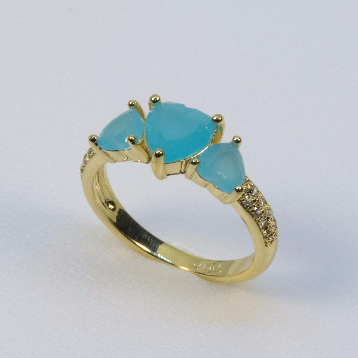 96b5dd19520 Anel Ouro18k 750 Princesa Aliança Noivado Zircônias - R  120