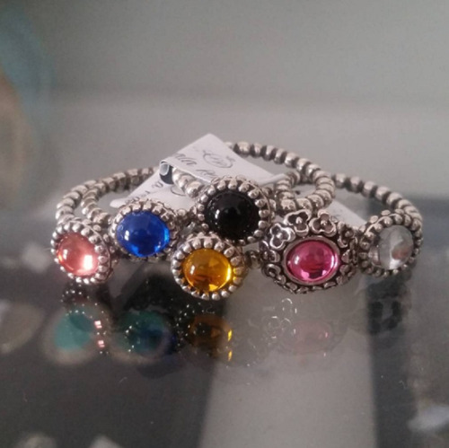 anel pandora  tipo  inspired  prata 925 varias cores escolha