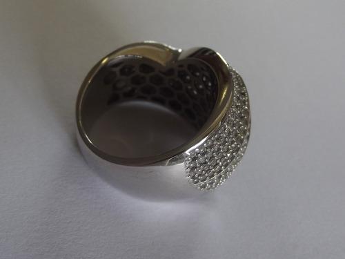 anel pavê diamantes monte carlo em ouro 18k/750