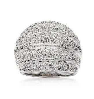 anel pavê em ouro branco com 1,3 cts de brilhantes!!!!