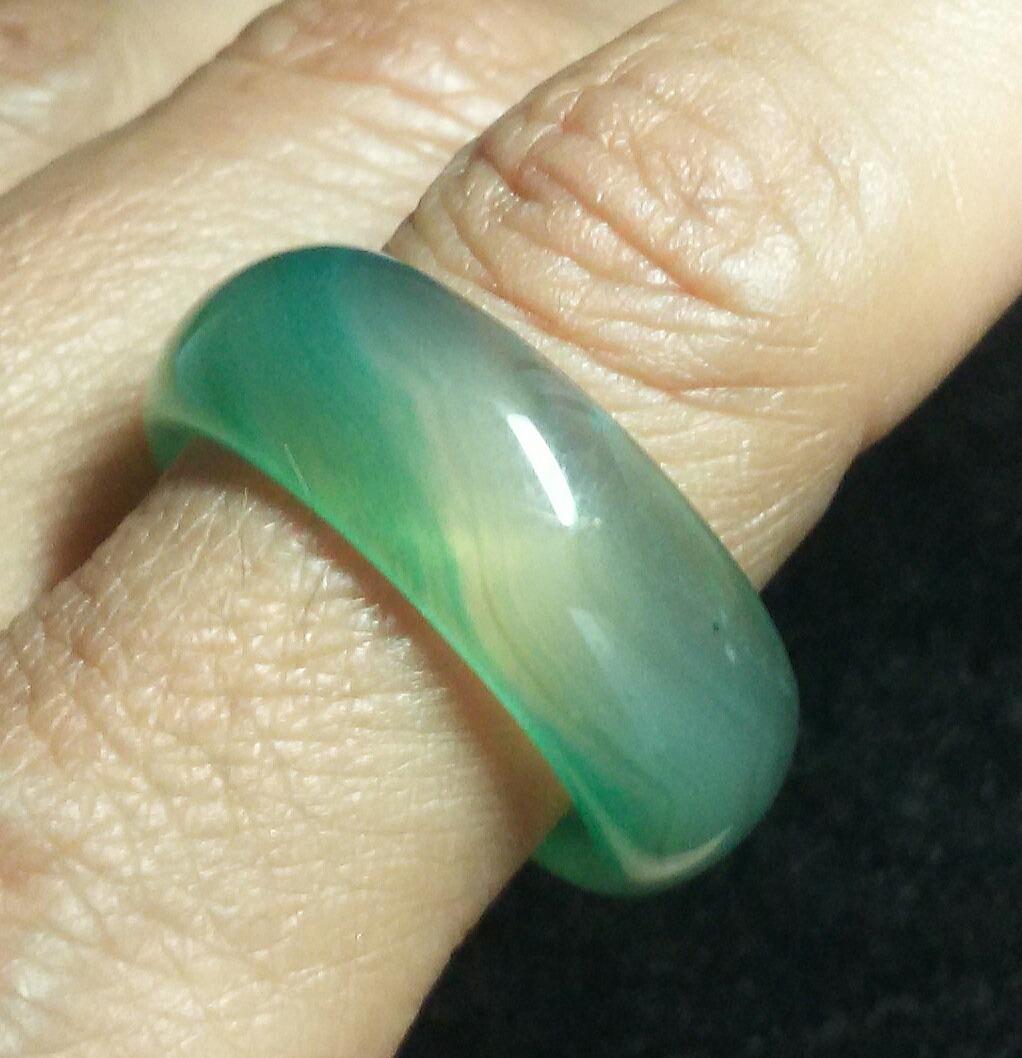 71cb291759b anel pedra ágata verde aliança larga 1cm aro 23 +fretegrátis. Carregando  zoom.