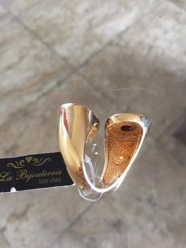 anel pedra natural olho de tigre modelo exclusivo banho 18k