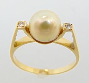 f4531b604 Anel De Ouro Branco Com Pérola E Brilhantes C57 La Gemme - Joias e ...