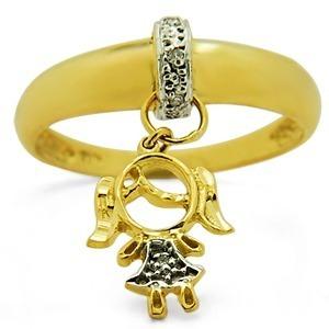 Anel Pingente De Ouro 18k Menina Ou Menino + Diamantes - R  995,00 ... 45b58dfd51