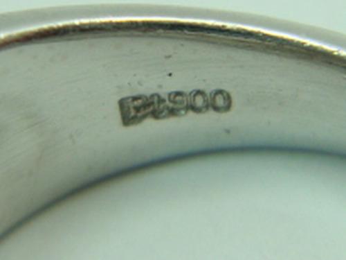 anel platina com diamantes princess 1,26 cts jr joalheiro.