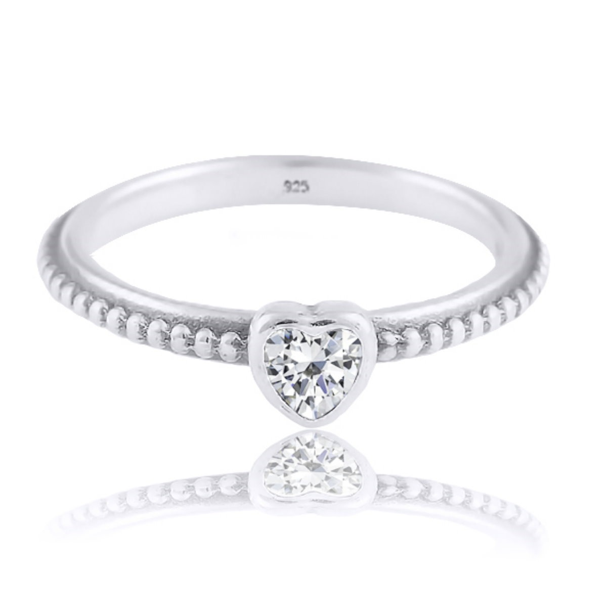 8d98bcc55b419 anel prata 925 coração estilo pandora zirconia - feminino. Carregando zoom.