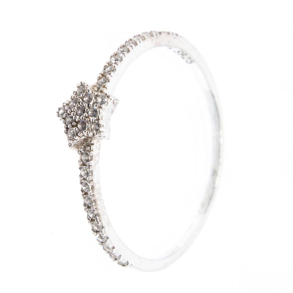 151df3492465a anel prata 925 - estrela - delicado - zircônia. Carregando zoom.