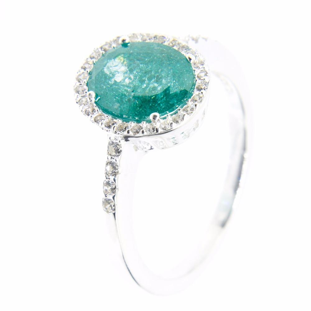 53dc0c088e85a anel prata 925 - oval - delicado - verde opaco. Carregando zoom.
