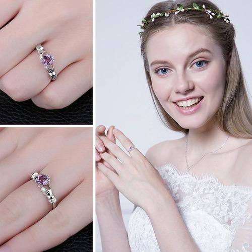 anel prata 925 pedra cristal ametista natural