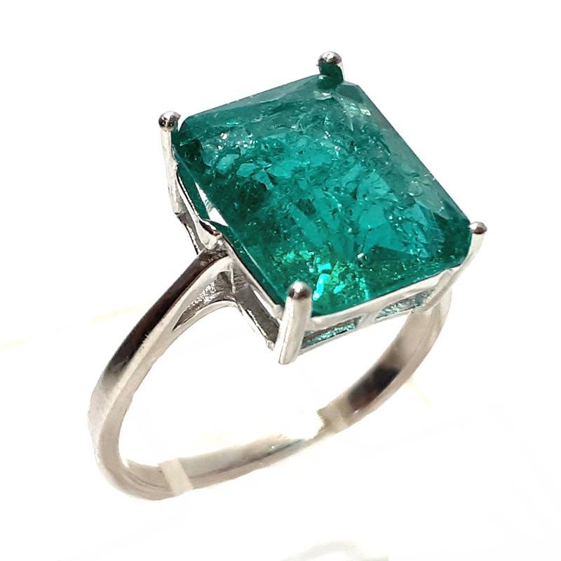 4139a7d250c7f anel prata 925 solitário zircônia fusion cor turmalina joia. Carregando zoom .