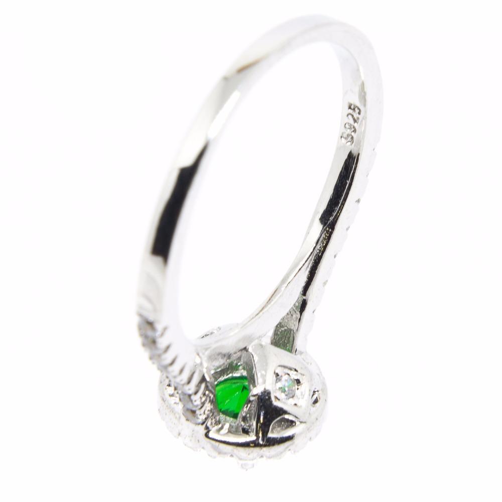 c467385b76c86 anel prata 925 - zircônia - verde - delicado. Carregando zoom.