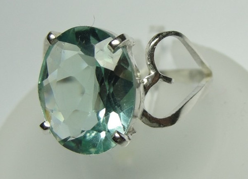 anel prata 950 c/ topazio oval detalhes laterais