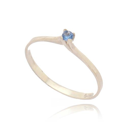 anel prata 950  solitário 18