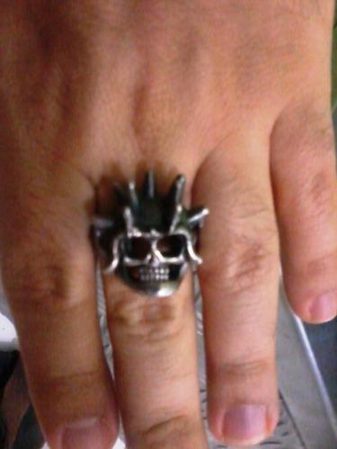anel prata caveira biker headbanger rocker