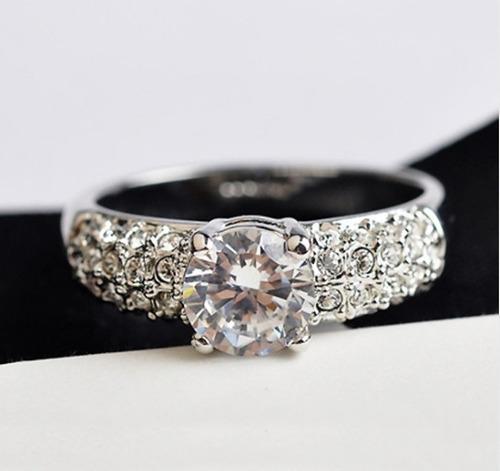 anel prata com brilhantes! barato, frete grátis
