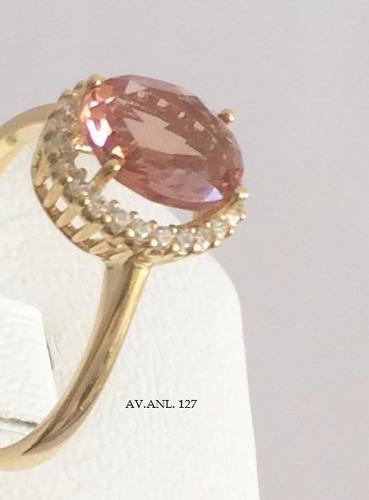 anel  prata e ouro turquia - a pedra que muda de cor anl 127