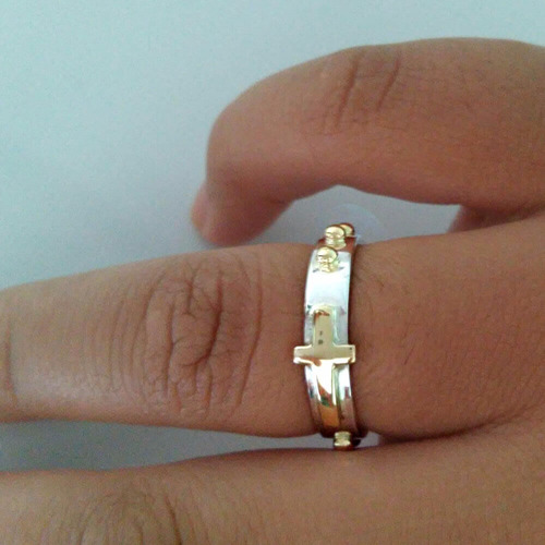 anel prata ouro feminino