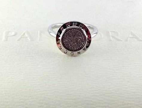 anel prata pandora pedras de zircônia