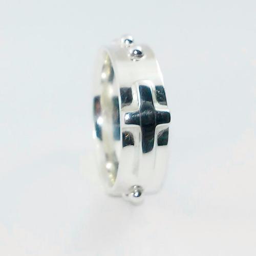 anel prata religioso