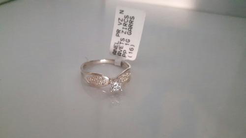anel prata vazado navets zircônias pp 1g garras n16