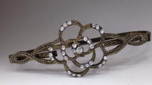 anel pulseira - pulseira de mão flor cor fosca