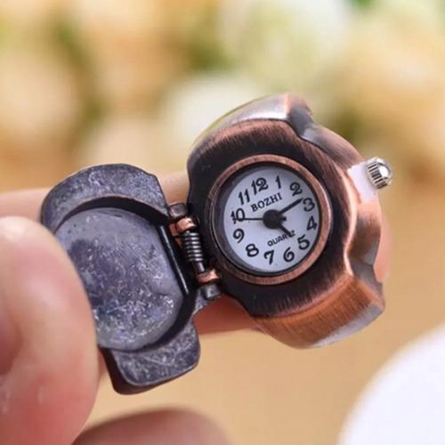 anel relógio caveira