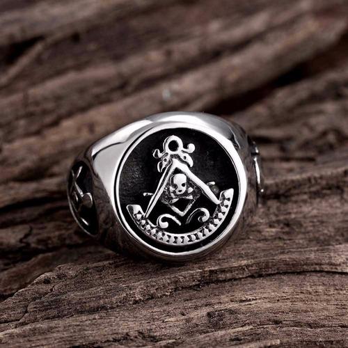 anel rock religioso aço titânio moto