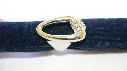 anel rodinado prateado   com pedras  bijouteria karsty&co.