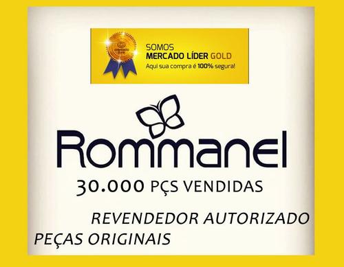 anel rommanel liso quadrados vazados rhodium 510002 frete g