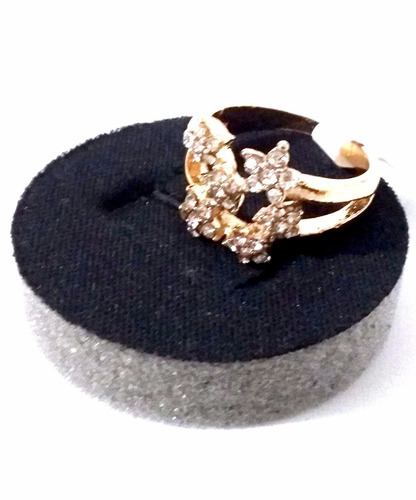 anel semi jóia - by flor de maio - brilhantes tam. 20